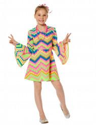 Disco Hippie Kleid für Kinder bunt