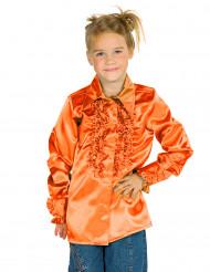 Rüschen Hemd für Kinder orange