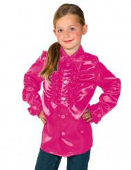 Rüschen Hemd für Kinder pink