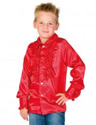 Rüschen Hemd für Kinder rot