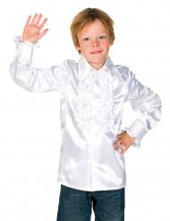 Rüschen Hemd für Kinder weiss