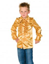 Rüschen Hemd für Kinder gold