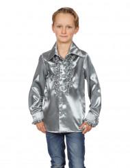Rüschen Hemd für Kinder silber