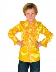 Rüschen Hemd für Kinder gelb