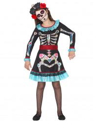 Skelett Kostüm für Mädchen Dia de los Muertos