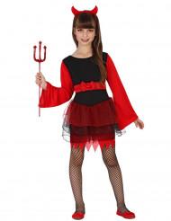 Dämonen Kostüm rot-schwazes Tütü für Mädchen