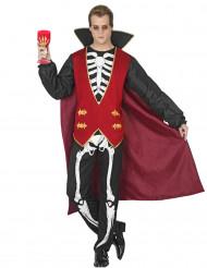 Verführerischer Vampir mit Skelett-Motiv für Herren
