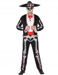 Tag der Toten Kostüm für Herren Dia de los Muertos bunt