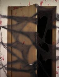 Spinnennetz schwarz mit Spinnen Deko für Halloween