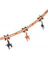 Hexengirlande orange schwarz 240cm