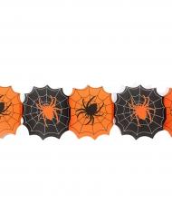 Spinnenweben Papiergirlande 240cm