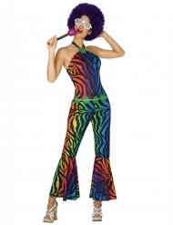 Kostüm im farbigen Leopardenmuster für Damen
