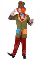 Gestreifer Hutmacher-Kostüm für Herren