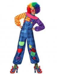 Clownskostüm blau für Damen