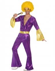 Disco Kostüm violett für Herren
