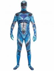 Power Ranger™ Morphsuits für Erwachsene blau-weiss