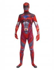 Power Ranger™ Morphsuits für Erwachsene rot-weiss