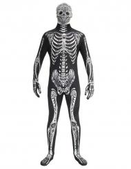 Tag der Toten Skelett Kostüm Morphsuits™ schwarz-weiß
