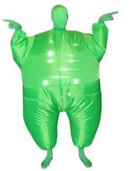 Aufblasbarer Morphsuits™ mit Licht Funktion grün