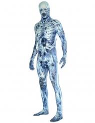 Halloween Morphsuits™ Overall Skelett blau-weiss