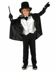 Magier Kinderkostüm silber-schwarz