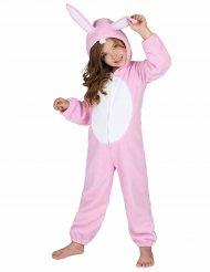 Rosa Hasen Kostüm Einteiler für Kinder