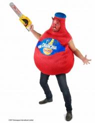Kostüm Orangina™ Flasche Blutroange in Rot