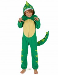 Grün-gelbes Dinosaurierkostüm für Kinder