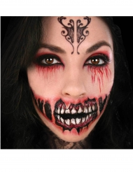 Temporäres Tattoo dämonisches Lachen