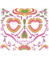 Temporäres Gesichtstattoo Dia de muertos für Damen