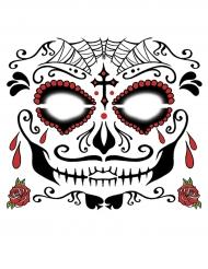 Gesichtstattoo Dia de los muertos für Herren