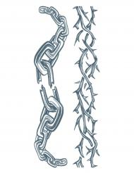 Klebe-Tattoos für Erwachsene - Kette und Stacheldrahtband