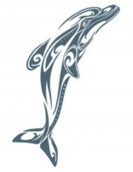 Delphin Körpertattoo