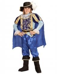 Märchenprinz-Kinderkostüm für Jungen blau-gold