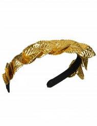Lorbeerkranz-Stirnband gold