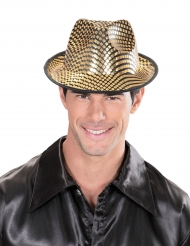 Borsalino-Hut mit Karos gold