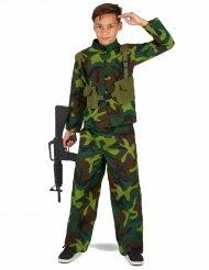 Soldatenkostüm für Jungen grün-braun-schwarz