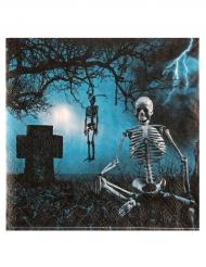 Papierservietten Horror-Nacht 10 Stück 33x33 cm