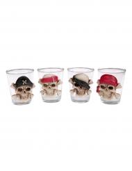 Shotglas Tischdekoration mit Totenschädel Halloween 6cm