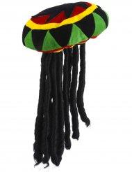 Rasta Mütze mit Dreadlocks für Erwachsene
