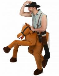 Huckepack Kostüm Reiter braun Carry Me
