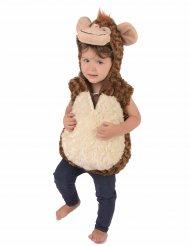 Flauschiges Affenkostüm für Kinder braun-beige