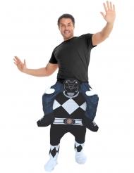 Power Rangers™ Morphsuits™ Carry-Me-Kostüm Lizenzartikel schwarz-weiss-blau
