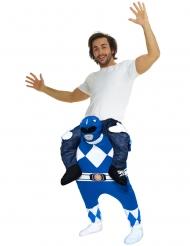 Power Rangers™ Morphsuits™ Carry-Me-Kostüm Lizenzartikel blau-weiss-schwarz