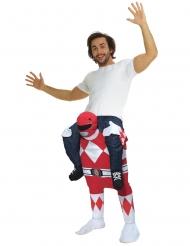 Power Rangers™ Morphsuits™ Carry-Me-Kostüm Lizenzartikel rot-weiss-schwarz