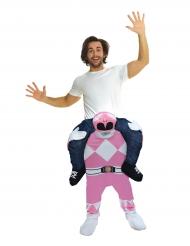 Power Rangers™ Morphsuits™ Carry-Me-Kostüm Lizenzartikel rosa-weiss-schwarz