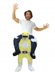 Power Rangers™ Morphsuits™ Carry-Me-Kostüm Lizenzartikel gelb-weiss-schwarz