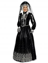 Kostüm Schwarze Braut für Damen