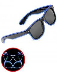 Leuchtende Brille blau