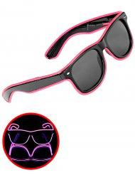 Leuchtende Brille rosa